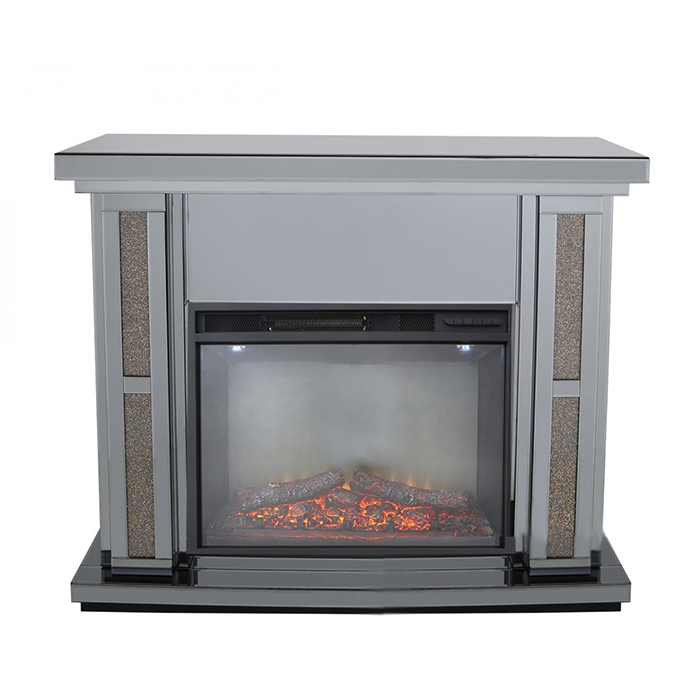 Madorra Copper Smoked Effect Fireplace Surround & Electric Fire Set