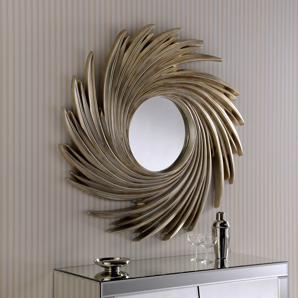 Artista Swirl Contemporary Round Mirror
