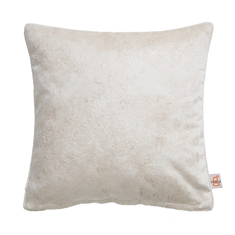 Navarra Oyster Velvet Square Cushion
