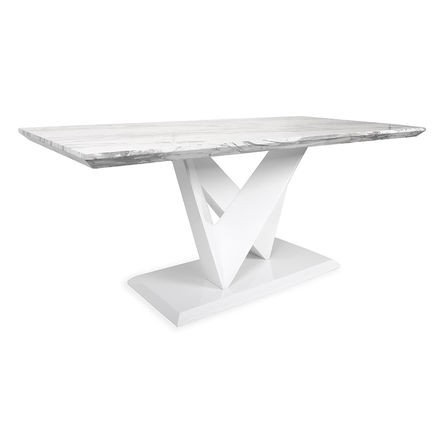 Serena Large Marble Effect Top 1.8m Dining Table