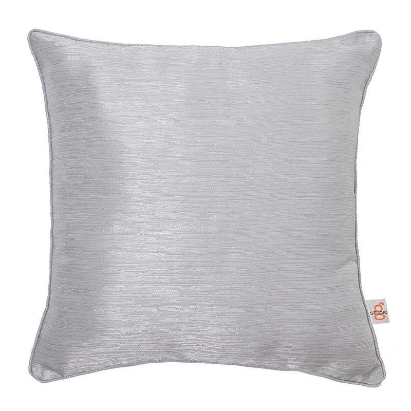 Catalonia Silver Square Cushion
