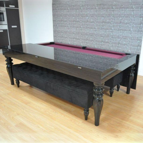 Verona Pool & Entertainment High Gloss Dining Table (Seats 6-8)
