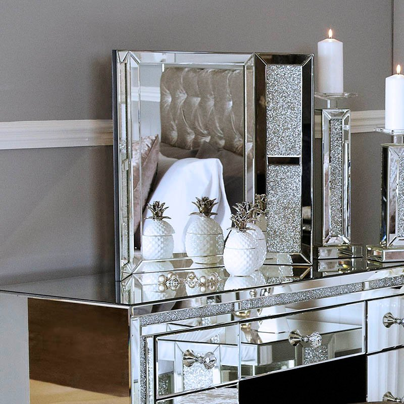 Madorra Mirrored Diamante Vanity Mirror