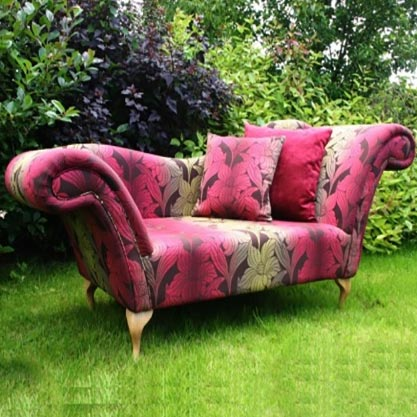 Bespoke Small Floral Fabric Chaise