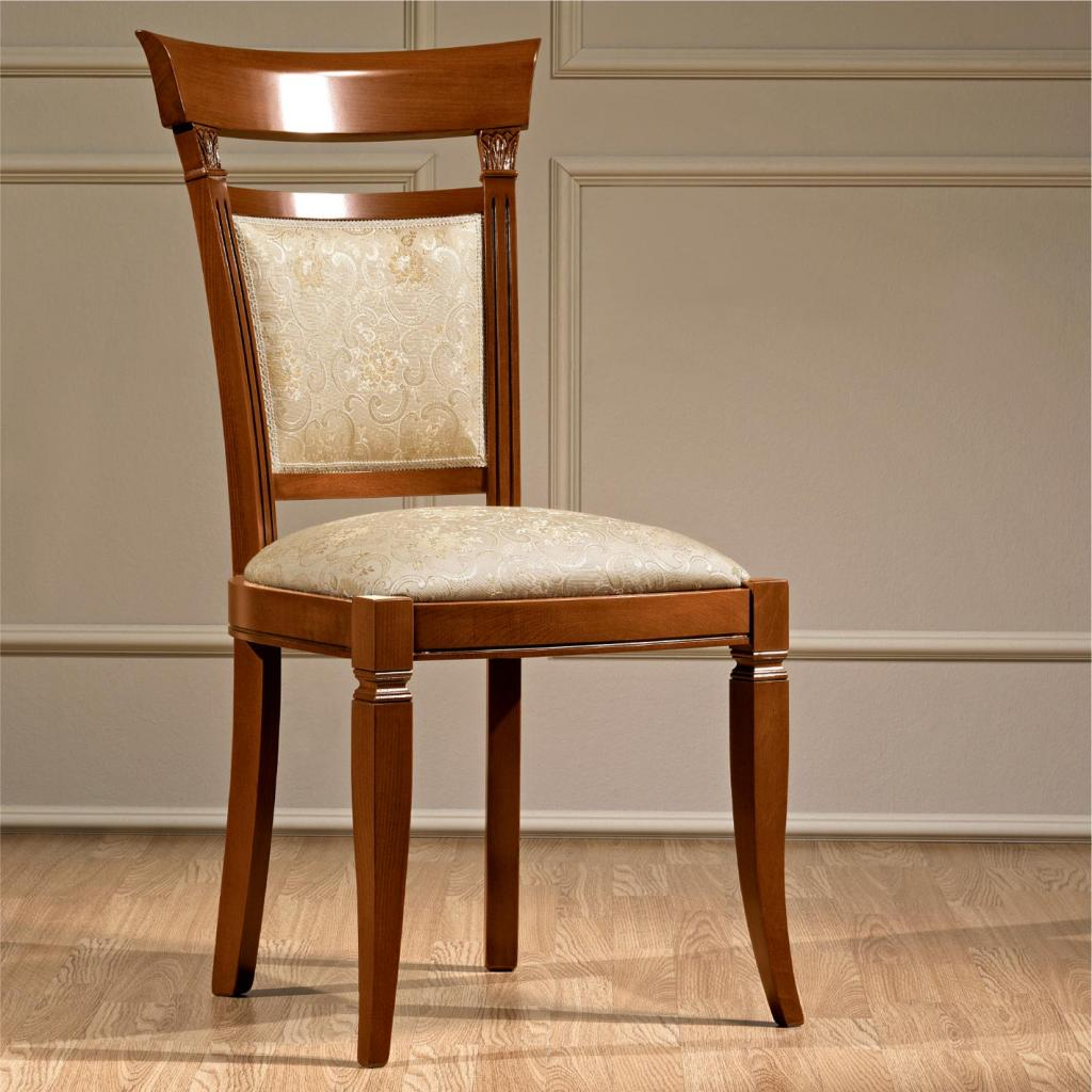 Treviso Ornate Cherry Wood Dining Chair