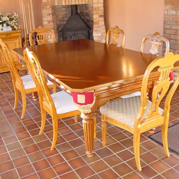 Vienna 7ft Solid Hardwood Pool Entertainment Dining Table