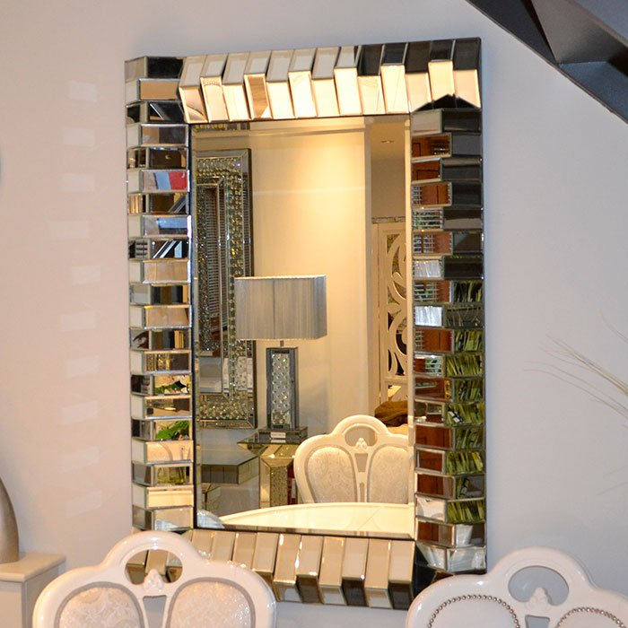 Prestige Vancouver Small Rectangular 3D Brick Mirror 75x90cm