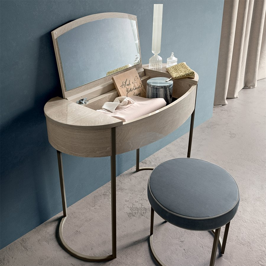 Romeli Ivory Birch Dressing Table (with flip up mirror)