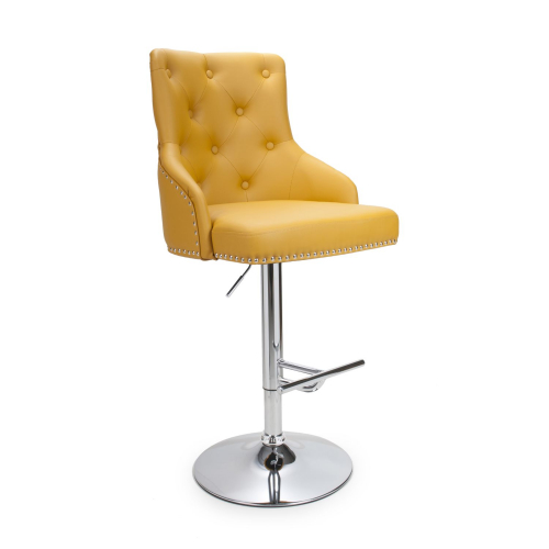 Rockley Yellow Faux Leather Bar Stool
