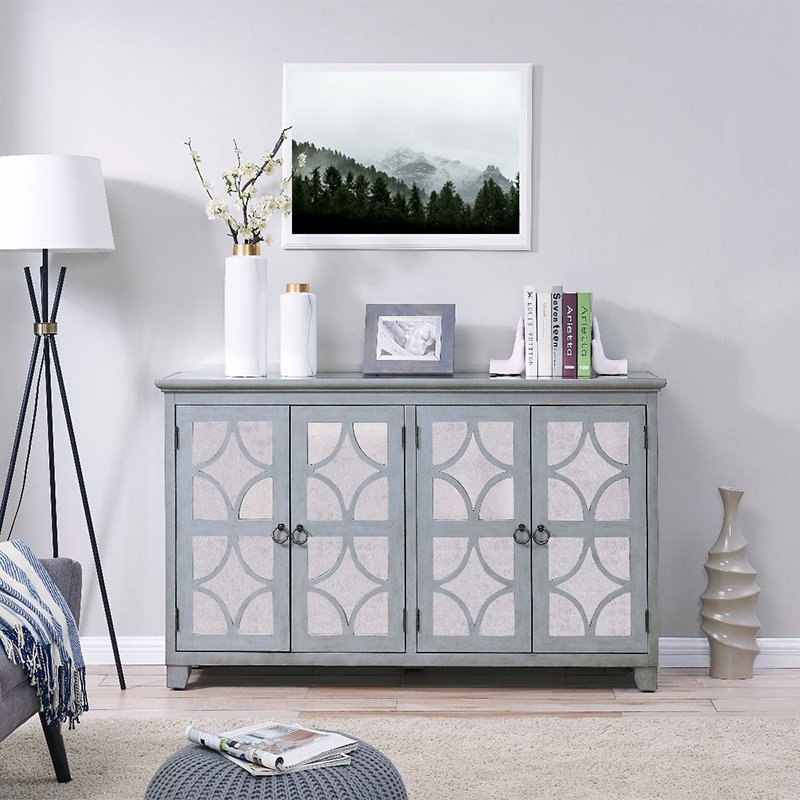 Russell Painted Wood 4 Door Sideboard