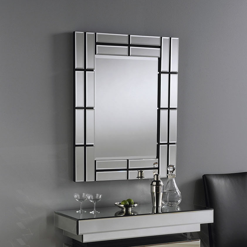 Brick Glass Contemporary Rectangular Mirror