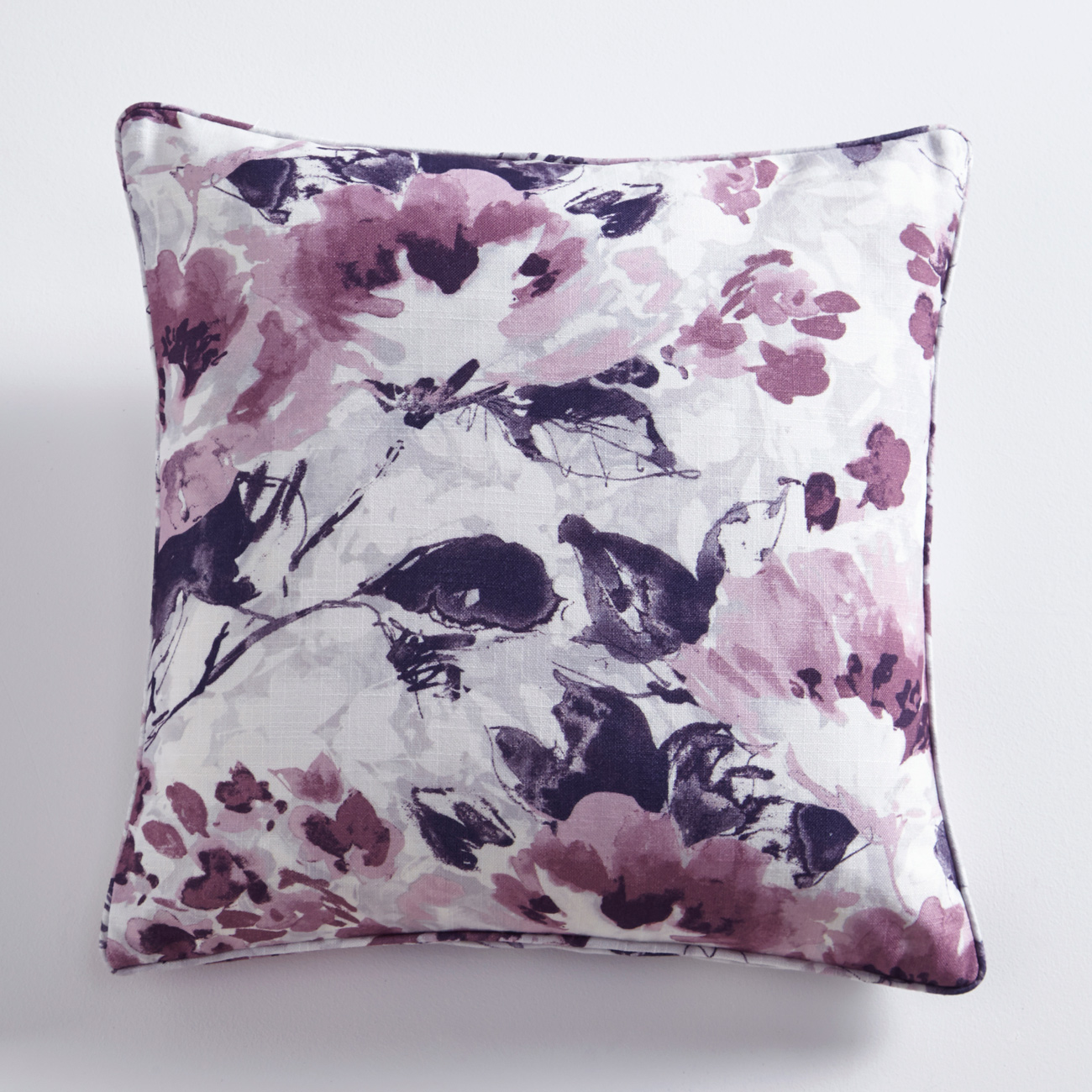 Casey Heather Floral Square Cushion
