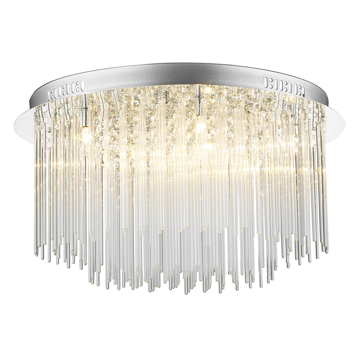 Icicle 8 Bulb Glass Tube Flush Ceiling Light
