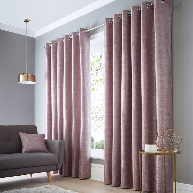 Catalonia Heather Readymade Eyelet Curtain