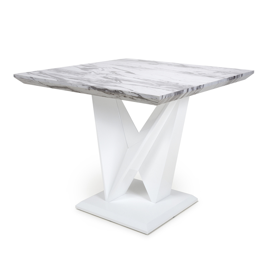 Serena Square Marble Effect Top Dining Table