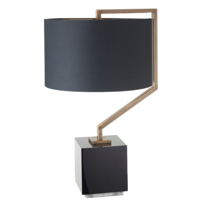 Cyclone Marble Antique Brass Table Lamp