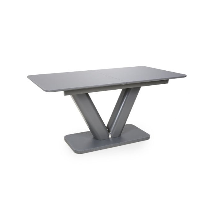 Venus Extra Large Extendable Grey Tempered Glass Dining Table