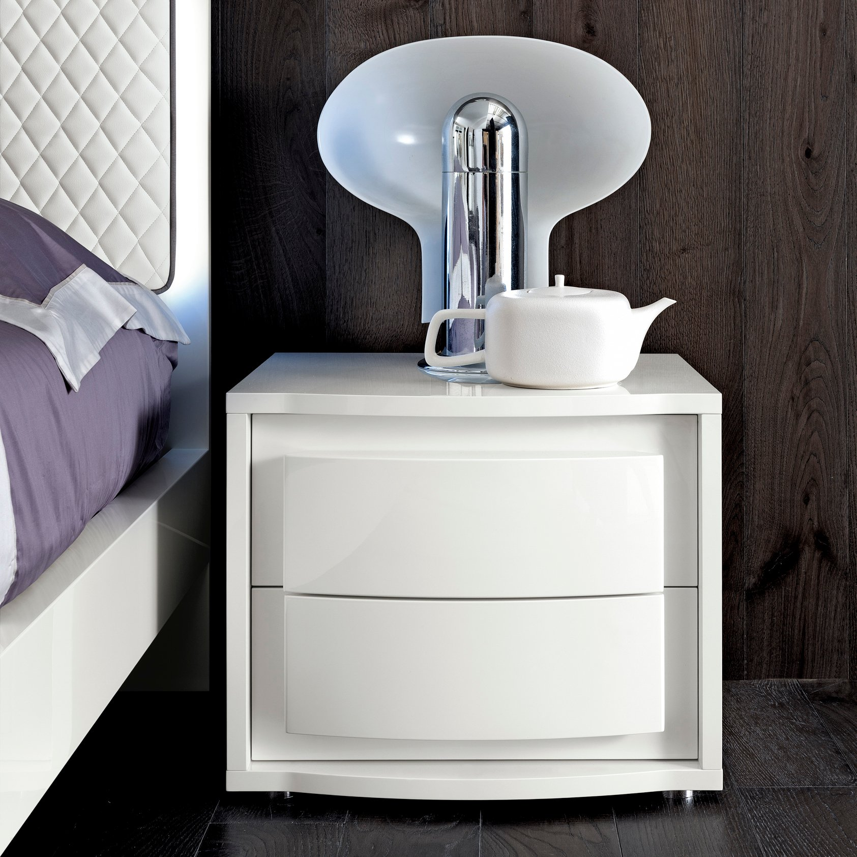 Bianca White Bedside Drawers
