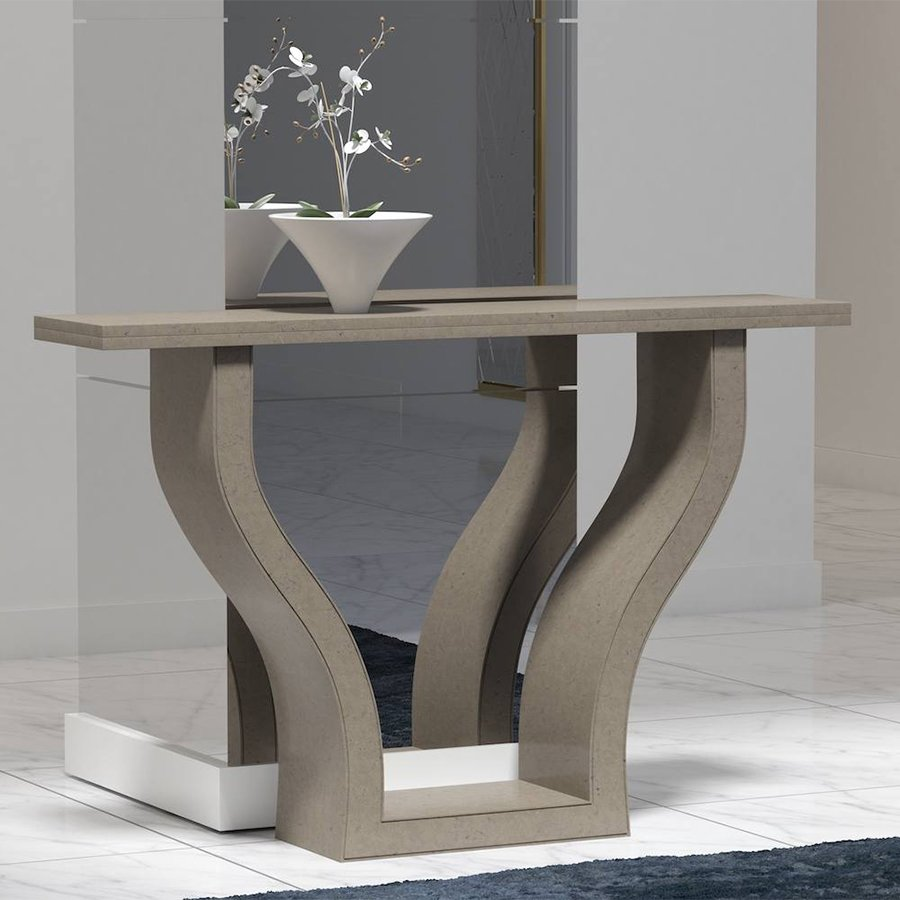 Emilia Ammonite Ardesia Quartz Console Table