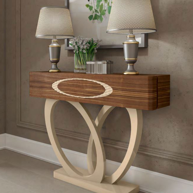 Eclipse High Gloss or Wood Veneer Console Table