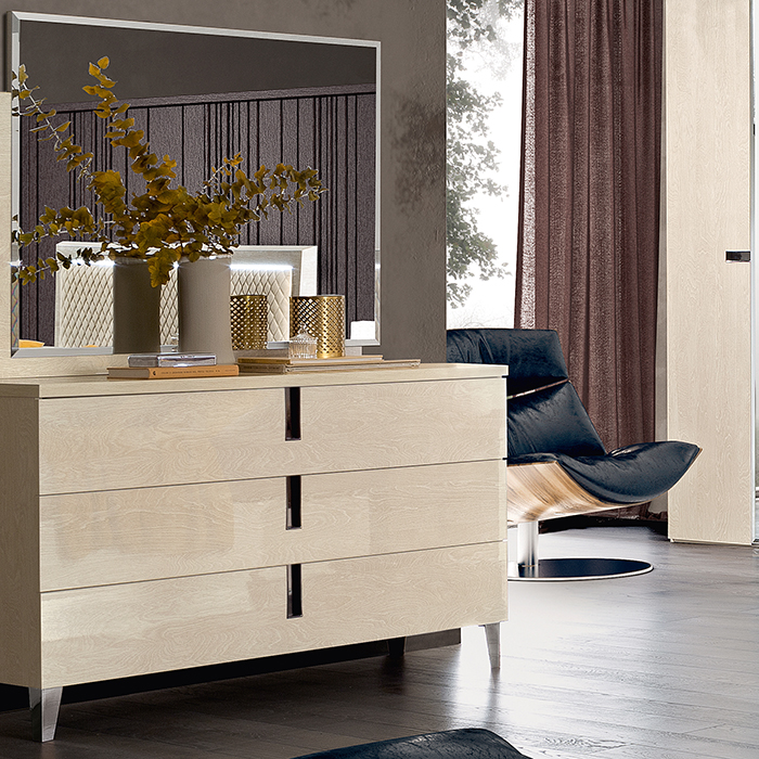 Abrianna Sand Birch Large 3 Drawer Chest of Drawers