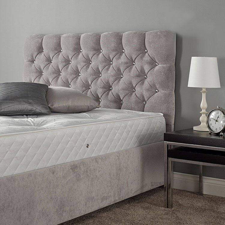 Parisian Fabric Diamante or Buttoned Headboard