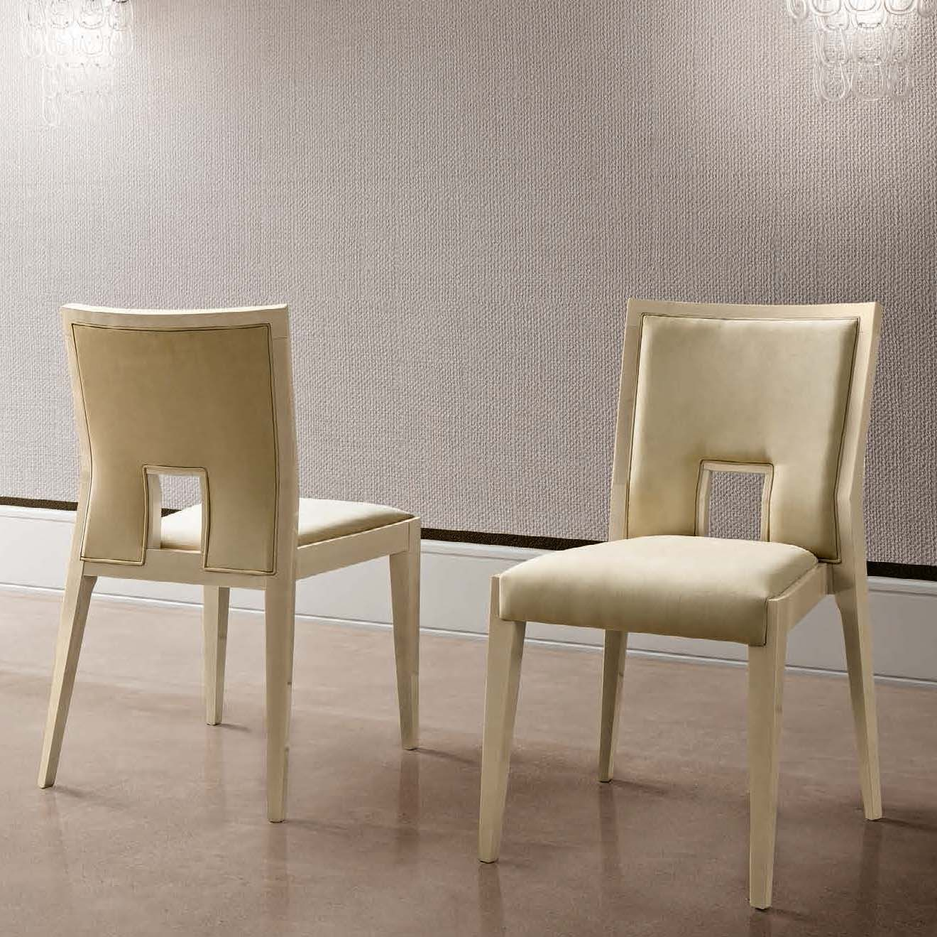 Abrianna Day Cream Nubuck Leather Dining Chair
