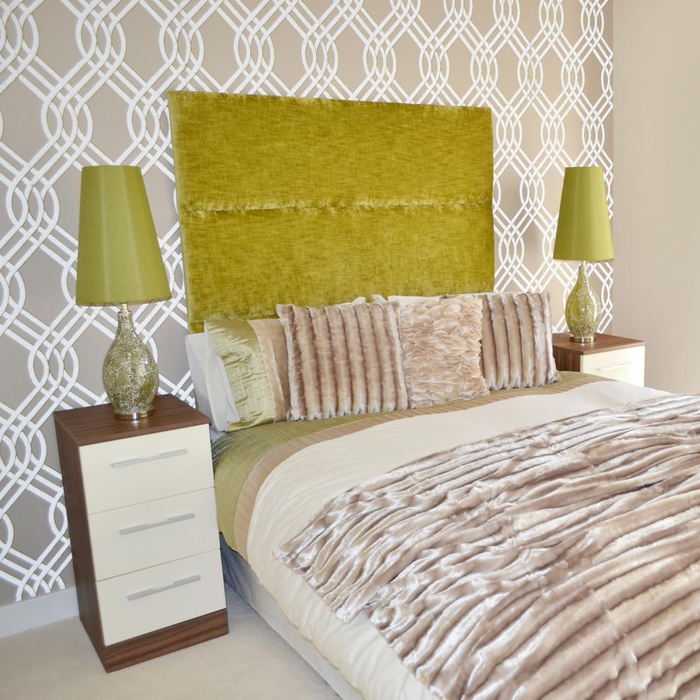 Bespoke Imperial Lime Chenille Headboard (Various Options)