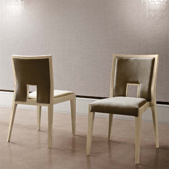 Abrianna Day Brown Nubuck Leather Dining Chair