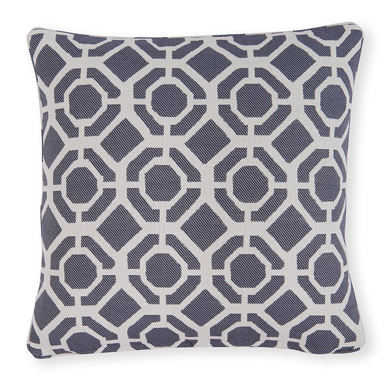 Castello Indigo Square Cushion