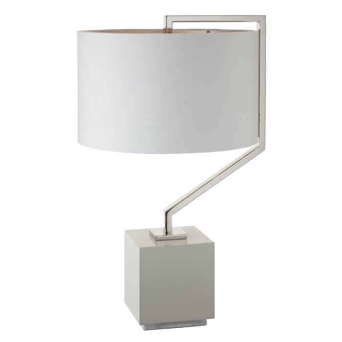 Cyclone Marble Nickel Table Lamp