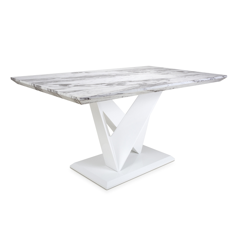 Serena Grey Marble 1.5m Dining Table
