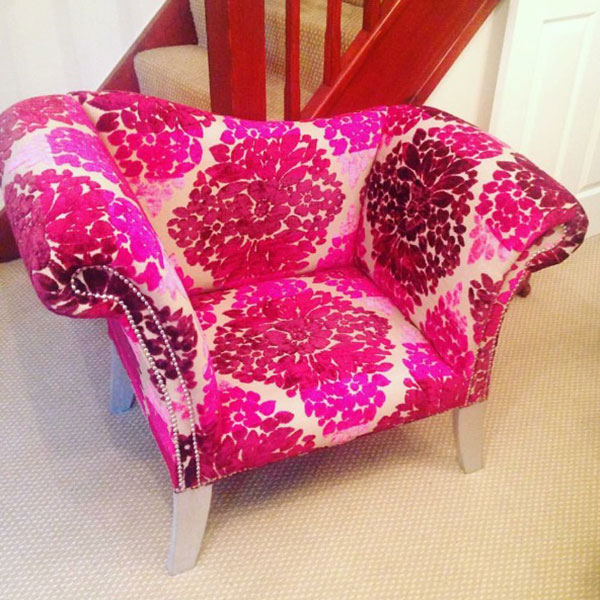 Bespoke Floral Studded Pew Chair