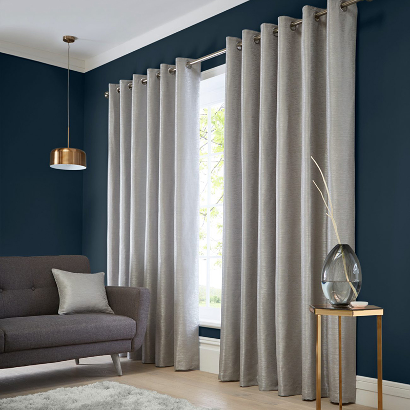 Catalonia Silver Readymade Eyelet Curtain