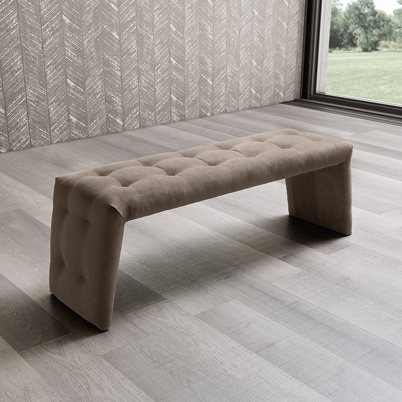 Lana Buttoned Upholstered Bench