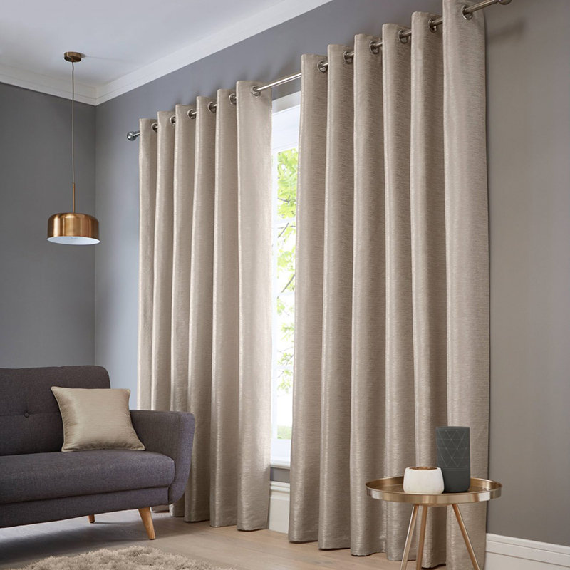 Catalonia Natural Readymade Eyelet Curtain
