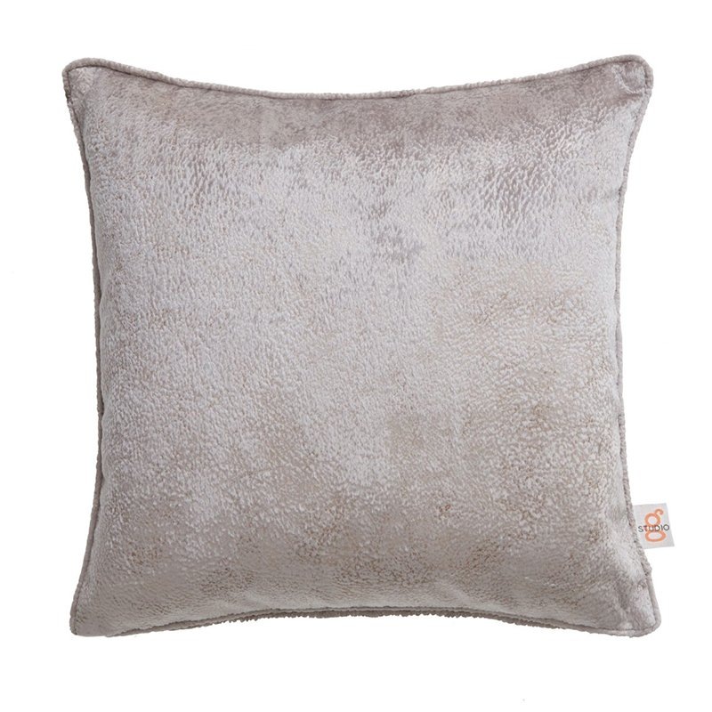Navarra Silver Velvet Square Cushion