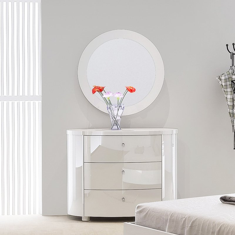 Voyage White High Gloss 3 Drawer Chest of Drawers