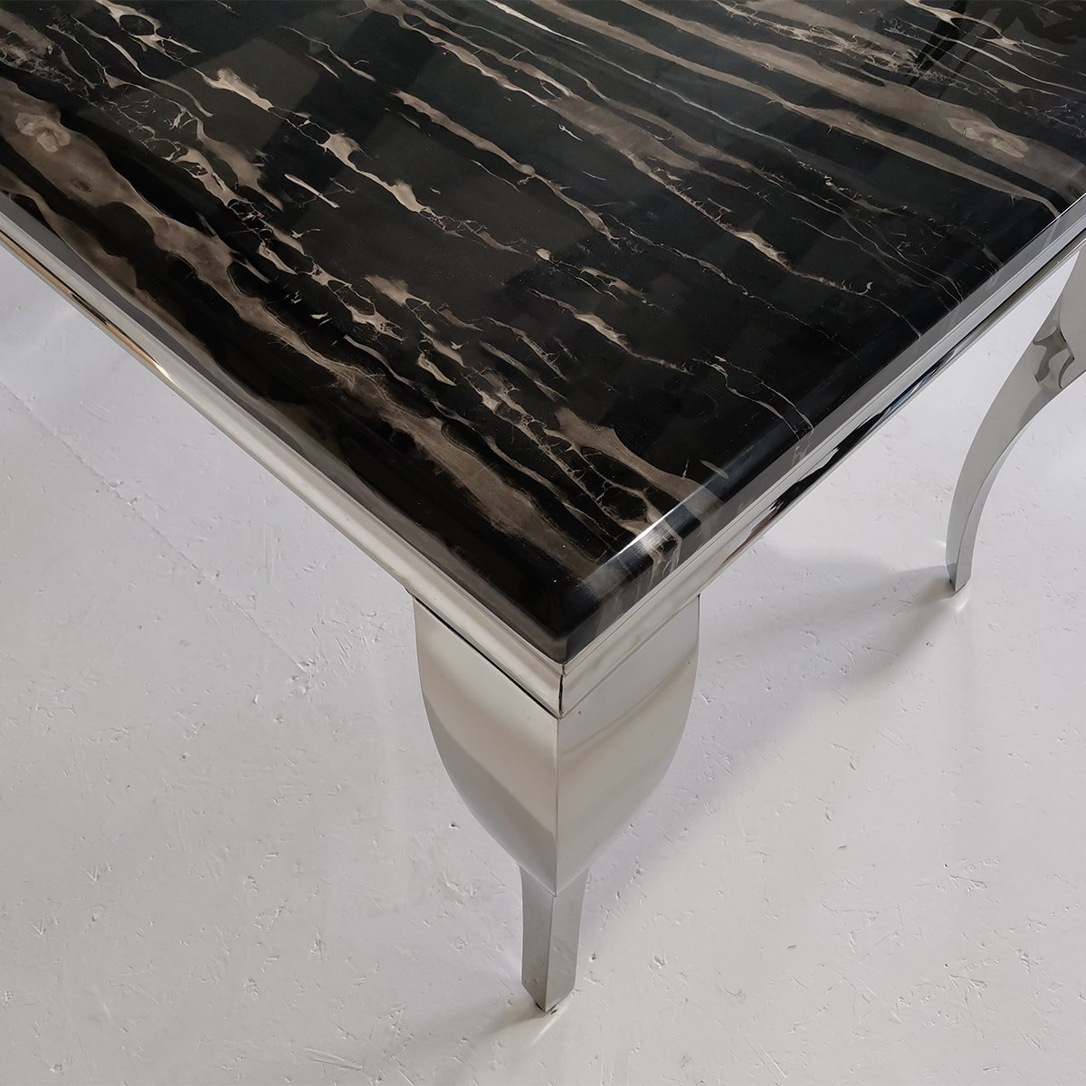 Liyana Black Marble Dining Table