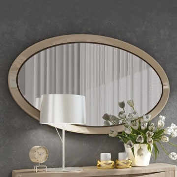 Londres High Gloss Small Oval Mirror