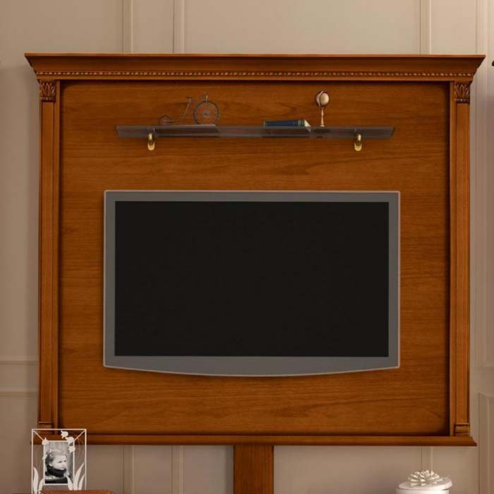 Treviso Ornate Cherry Wood TV Wall Mount Plate