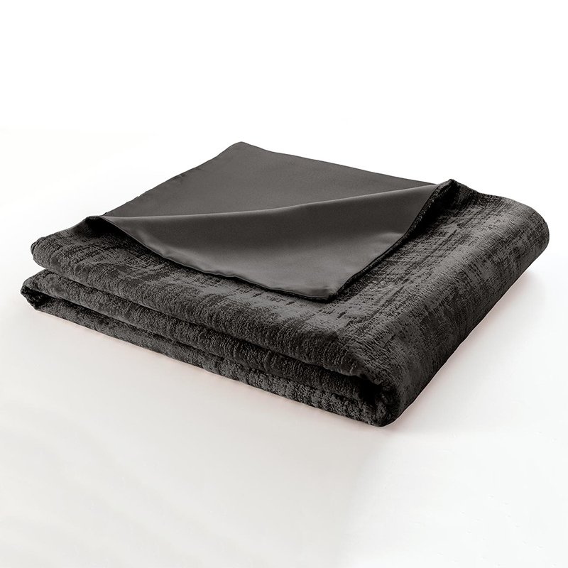 Naples Smoke Velvet Lined Throw