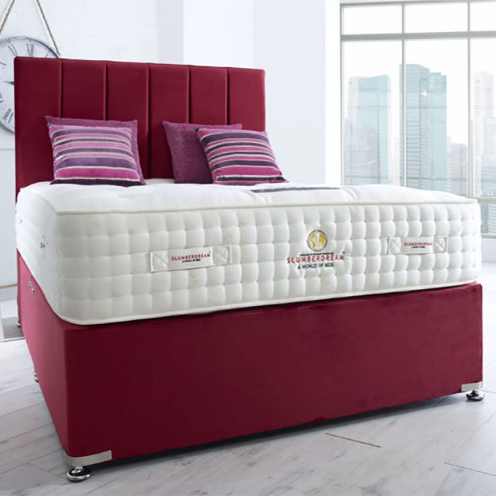 Legacy Paneled Headboard, Upholstered Base & Britannia Mattress - Various Colours & Sizes