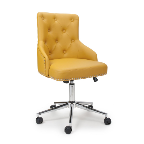 Rockley Yellow Faux Leather Office Chair