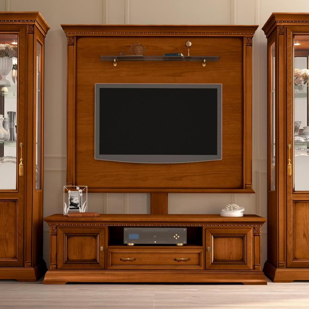 Treviso Ornate Cherry Wood Midi TV Base Unit
