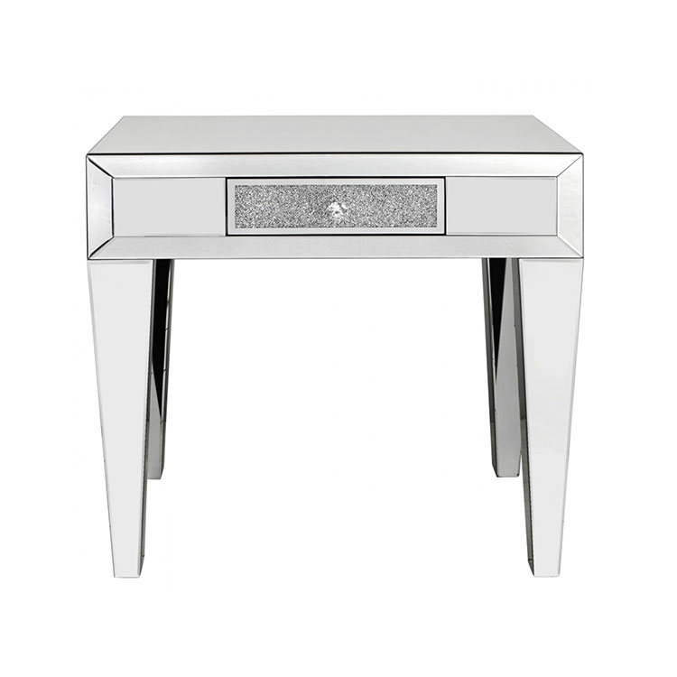 Madorra Mirrored Diamante 1 Drawer Console Table