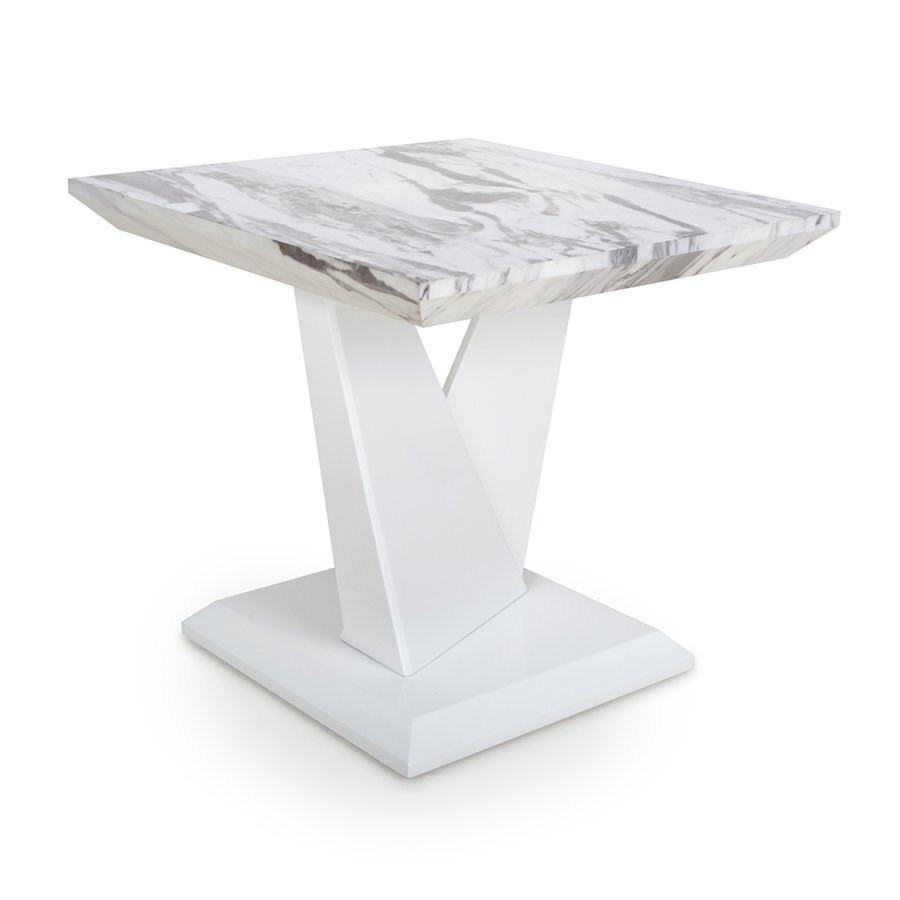 Serena Marble Effect Top Lamp Table