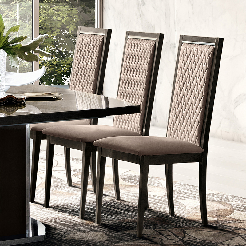 Elisio ROMBI Silver Birch Fawn Upholstered Dining Chair