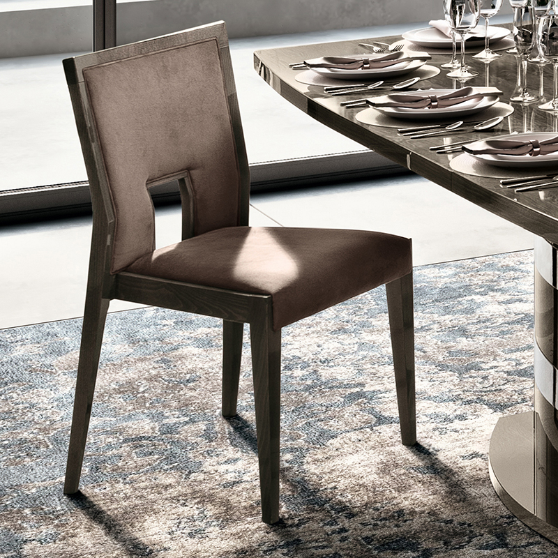 Elisio AMBRA Silver Birch Fawn Upholstered Dining Chair