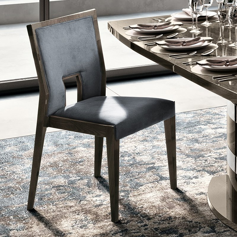 Elisio AMBRA Silver Birch Grey Upholstered Dining Chair
